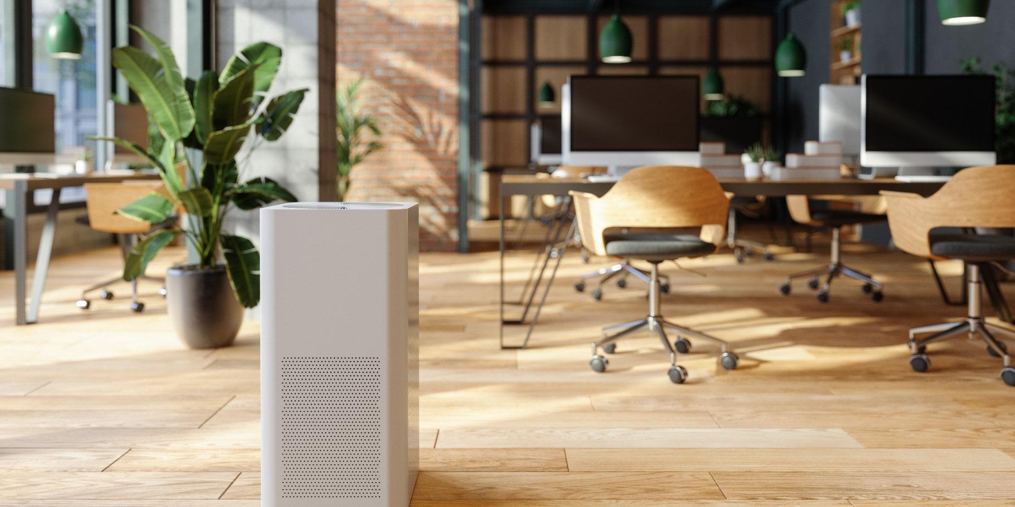 Air Quality control air scrubber in an office